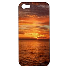 Sunset Sea Afterglow Boot Apple iPhone 5 Hardshell Case