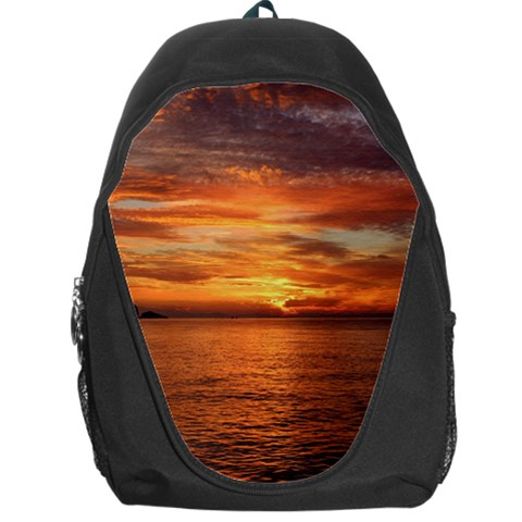 Sunset Sea Afterglow Boot Backpack Bag
