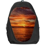 Sunset Sea Afterglow Boot Backpack Bag Front