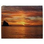 Sunset Sea Afterglow Boot Cosmetic Bag (XXXL)  Front