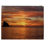 Sunset Sea Afterglow Boot Cosmetic Bag (XXXL)  Back
