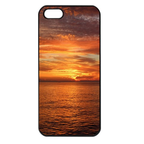 Sunset Sea Afterglow Boot Apple iPhone 5 Seamless Case (Black)