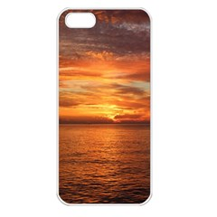 Sunset Sea Afterglow Boot Apple iPhone 5 Seamless Case (White)
