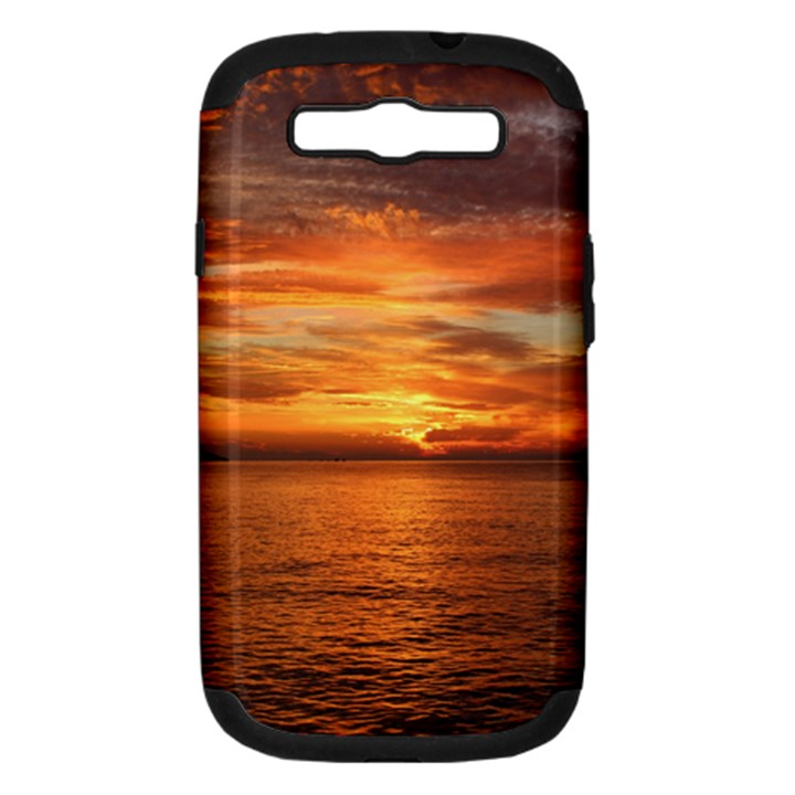 Sunset Sea Afterglow Boot Samsung Galaxy S III Hardshell Case (PC+Silicone)