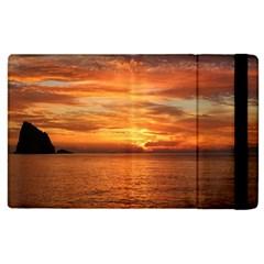 Sunset Sea Afterglow Boot Apple iPad 2 Flip Case