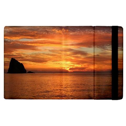 Sunset Sea Afterglow Boot Apple iPad 3/4 Flip Case