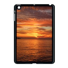 Sunset Sea Afterglow Boot Apple iPad Mini Case (Black)