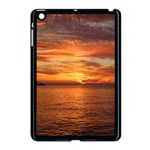 Sunset Sea Afterglow Boot Apple iPad Mini Case (Black) Front