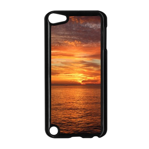 Sunset Sea Afterglow Boot Apple iPod Touch 5 Case (Black)