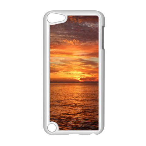 Sunset Sea Afterglow Boot Apple iPod Touch 5 Case (White)