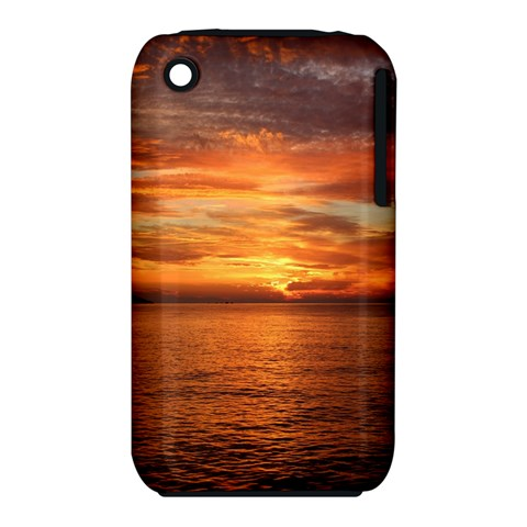 Sunset Sea Afterglow Boot Apple iPhone 3G/3GS Hardshell Case (PC+Silicone)