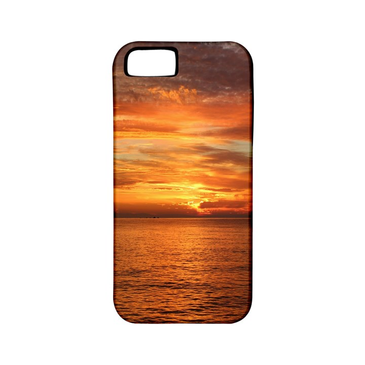 Sunset Sea Afterglow Boot Apple iPhone 5 Classic Hardshell Case (PC+Silicone)