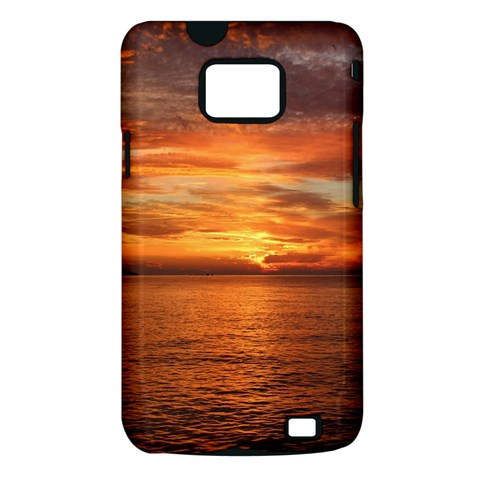 Sunset Sea Afterglow Boot Samsung Galaxy S II i9100 Hardshell Case (PC+Silicone)