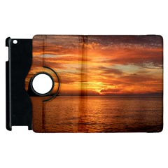 Sunset Sea Afterglow Boot Apple iPad 2 Flip 360 Case