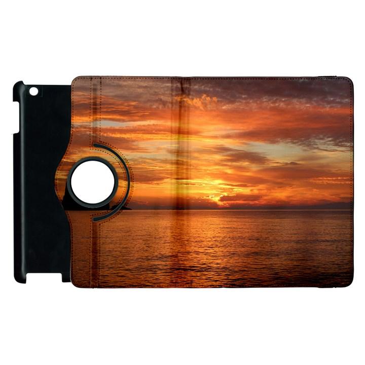 Sunset Sea Afterglow Boot Apple iPad 3/4 Flip 360 Case