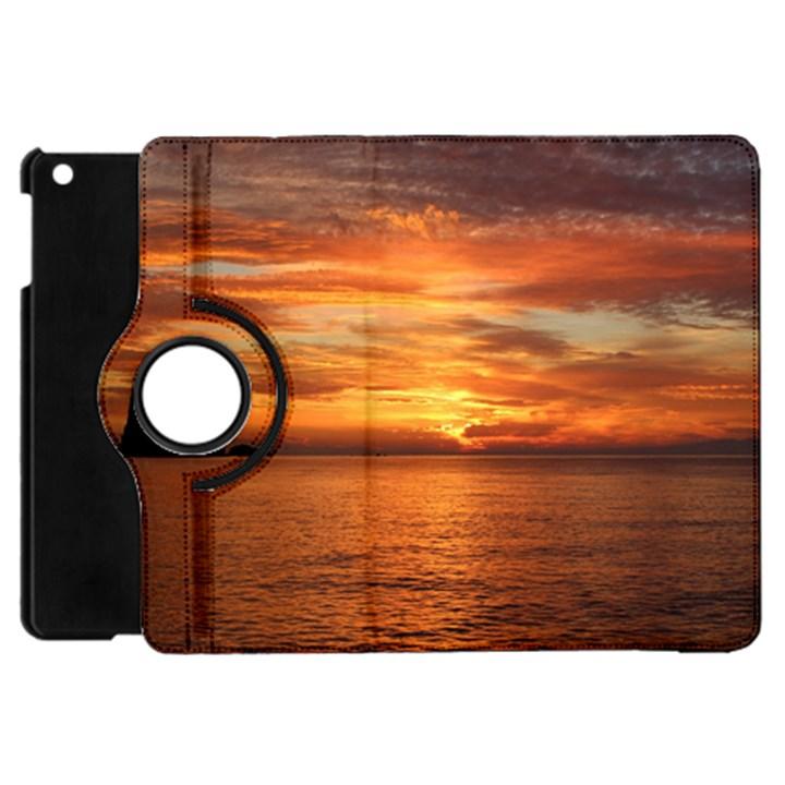 Sunset Sea Afterglow Boot Apple iPad Mini Flip 360 Case