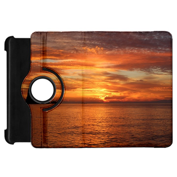 Sunset Sea Afterglow Boot Kindle Fire HD Flip 360 Case