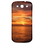 Sunset Sea Afterglow Boot Samsung Galaxy S3 S III Classic Hardshell Back Case Front