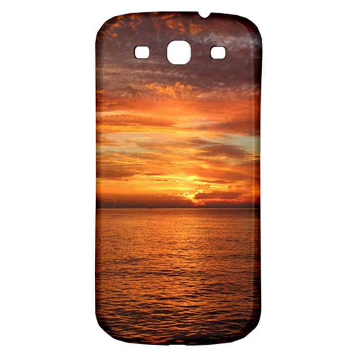 Sunset Sea Afterglow Boot Samsung Galaxy S3 S III Classic Hardshell Back Case