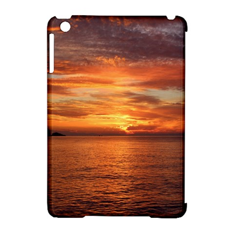 Sunset Sea Afterglow Boot Apple iPad Mini Hardshell Case (Compatible with Smart Cover)