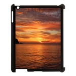 Sunset Sea Afterglow Boot Apple iPad 3/4 Case (Black) Front