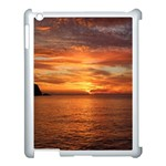 Sunset Sea Afterglow Boot Apple iPad 3/4 Case (White) Front