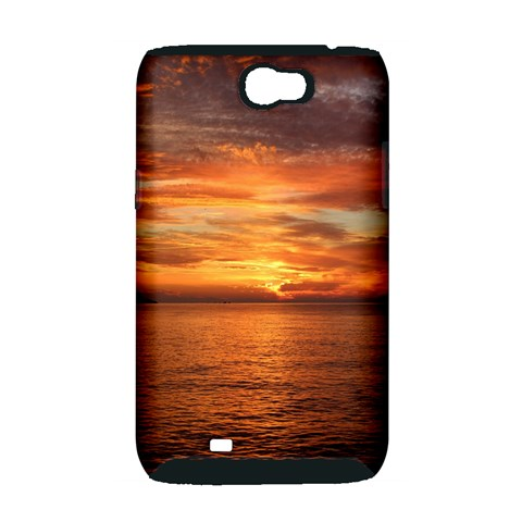 Sunset Sea Afterglow Boot Samsung Galaxy Note 2 Hardshell Case (PC+Silicone)