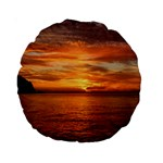 Sunset Sea Afterglow Boot Standard 15  Premium Round Cushions Back