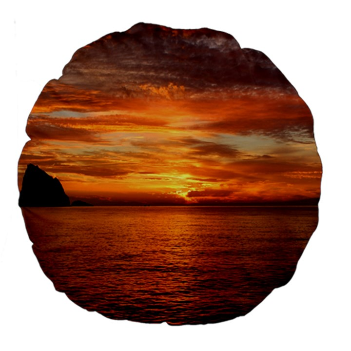 Sunset Sea Afterglow Boot Large 18  Premium Round Cushions