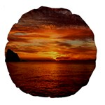 Sunset Sea Afterglow Boot Large 18  Premium Round Cushions Back