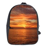 Sunset Sea Afterglow Boot School Bags (XL)  Front