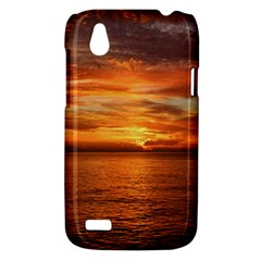 Sunset Sea Afterglow Boot HTC Desire V (T328W) Hardshell Case