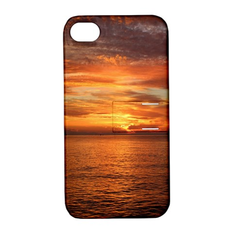 Sunset Sea Afterglow Boot Apple iPhone 4/4S Hardshell Case with Stand