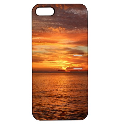 Sunset Sea Afterglow Boot Apple iPhone 5 Hardshell Case with Stand
