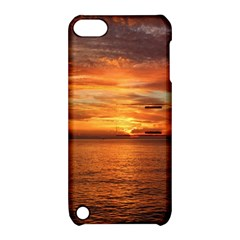 Sunset Sea Afterglow Boot Apple iPod Touch 5 Hardshell Case with Stand