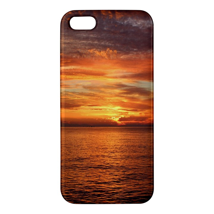 Sunset Sea Afterglow Boot Apple iPhone 5 Premium Hardshell Case