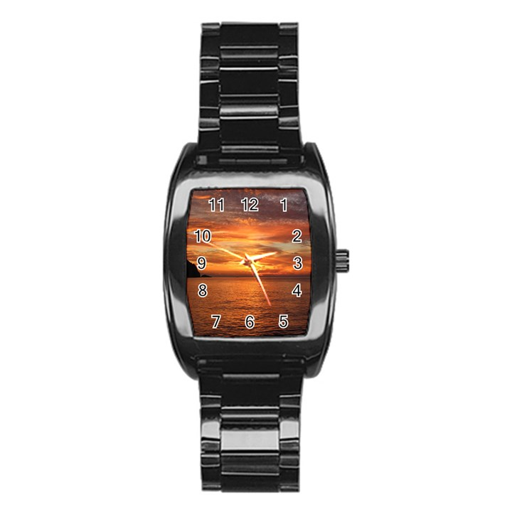 Sunset Sea Afterglow Boot Stainless Steel Barrel Watch