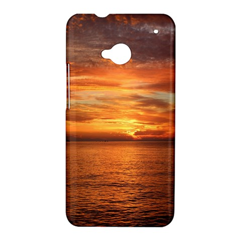 Sunset Sea Afterglow Boot HTC One M7 Hardshell Case