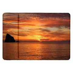 Sunset Sea Afterglow Boot Samsung Galaxy Tab 8.9  P7300 Flip Case