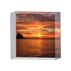 Sunset Sea Afterglow Boot 4 x 4  Acrylic Photo Blocks