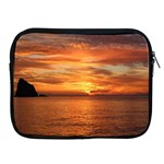 Sunset Sea Afterglow Boot Apple iPad 2/3/4 Zipper Cases Front