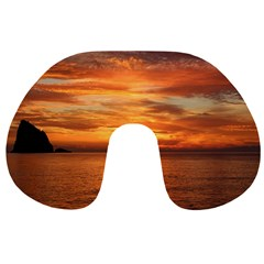 Sunset Sea Afterglow Boot Travel Neck Pillows