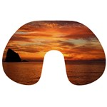 Sunset Sea Afterglow Boot Travel Neck Pillows Back