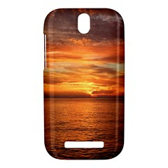 Sunset Sea Afterglow Boot HTC One SV Hardshell Case