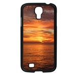 Sunset Sea Afterglow Boot Samsung Galaxy S4 I9500/ I9505 Case (Black) Front