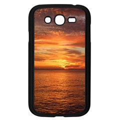 Sunset Sea Afterglow Boot Samsung Galaxy Grand DUOS I9082 Case (Black)