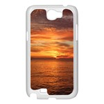 Sunset Sea Afterglow Boot Samsung Galaxy Note 2 Case (White) Front