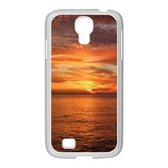 Sunset Sea Afterglow Boot Samsung GALAXY S4 I9500/ I9505 Case (White)