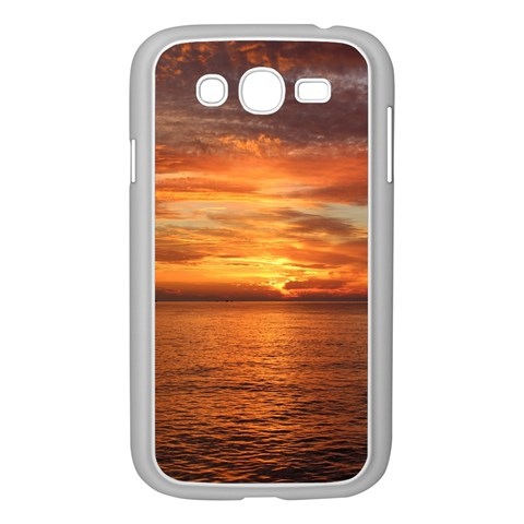 Sunset Sea Afterglow Boot Samsung Galaxy Grand DUOS I9082 Case (White)