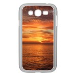 Sunset Sea Afterglow Boot Samsung Galaxy Grand DUOS I9082 Case (White) Front